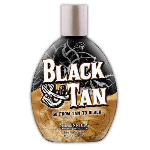 Millenium Tanning Black and Tan 75X Bronzer Indoor Dark Lotion Tanning