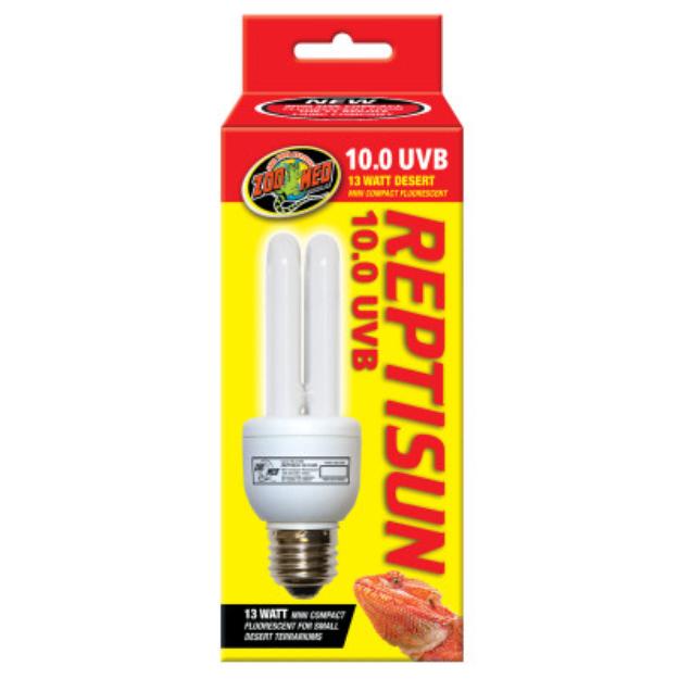 Zoo Med ZOO MEDTM REPTISUNTM 10.0 UVB Mini Compact Fluorescent Bulb
