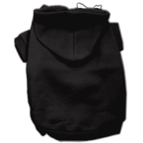 Mirage Pet Products 8-Inch Blank Hoodies, X-Small, Black