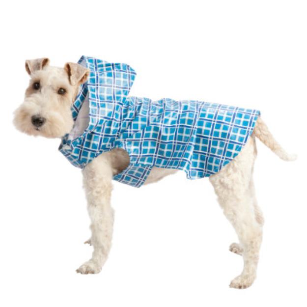 Top Paw Blue Plaid Raincoat