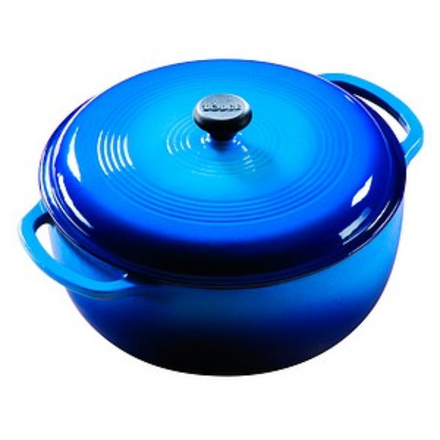 Lodge 6qt Enamel Cast Iron Dutch Oven Blue