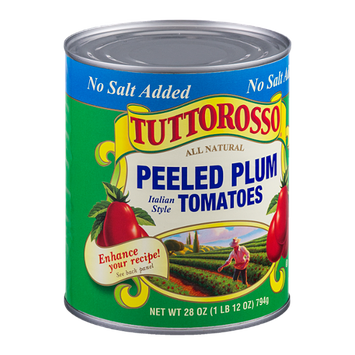 Tuttorosso Peeled Plum Tomatoes Italian Style No Salt Added