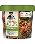 Quaker Real Medleys Oatmeal Apple Walnut