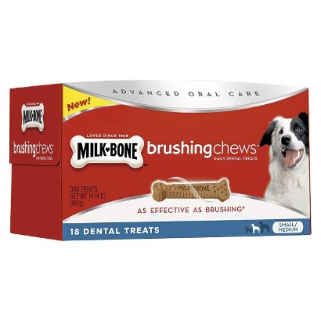 Milk-Bone Milk Bone Brushing Chews Dog Treats - 18 Count (Medium/Small)