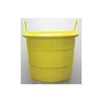 Fortiflex Multi-Purpose Storage Bucket for Dogs/Cats and Horses, 74-Quart, Mellow Yellow