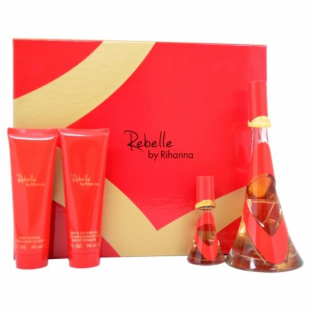 Rihanna Rebelle Gift Set for Women, 4 Piece, 1 set