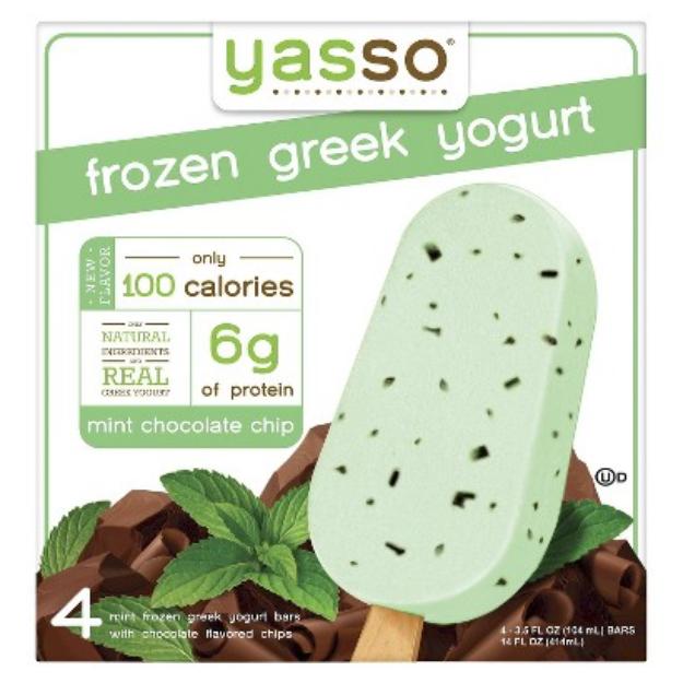 Yasso Frozen Greek Yogurt Mint Chocolate Chip 4 pk