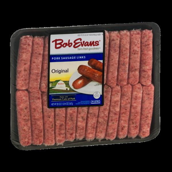 Bob Evans Pork Sausage Links Original - 24 CT