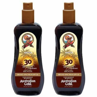 2 Pack SPF 30 Spray Gel Sunscreen with Bronzer