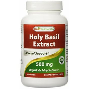 Best Naturals Holy Basil Extract 500 mg 120 VCaps