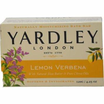 Yardley Lemon Verbena with Shea Butter Bar Soap, 4.25 Oz (Pack of 4)