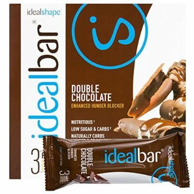 IdealBar, Meal Replacement Bars, Double Chocolate, w/ Hunger Blocker - 140 Calories, 6g Sugar, 10g Protein - 7 Bars
