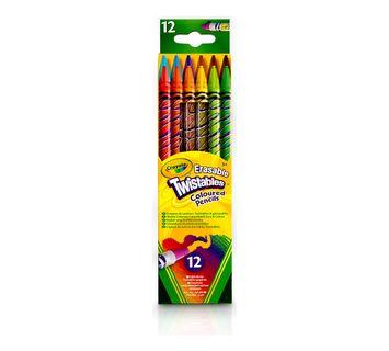 Crayola Erasable Twistables Colored Pencils, 12 Count
