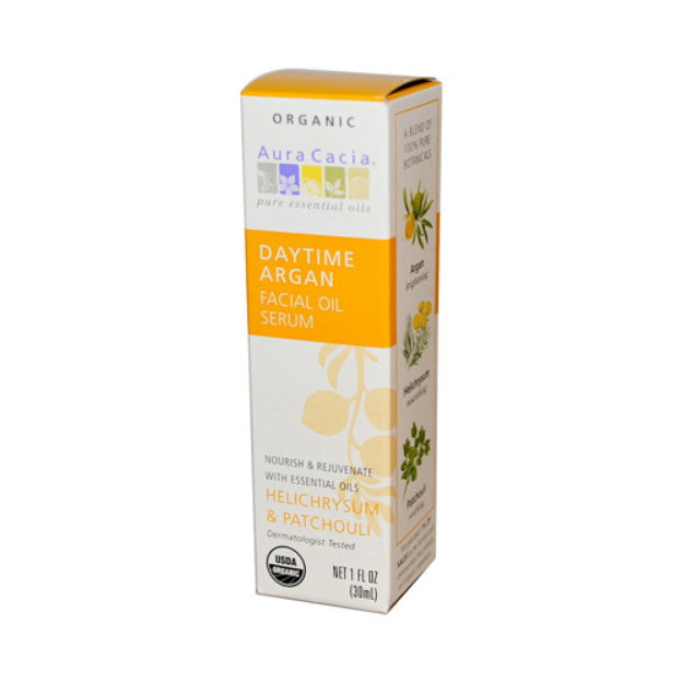Aura Cacia Daytime Argan Facial Oil Serum Helichrysum & Patchouli
