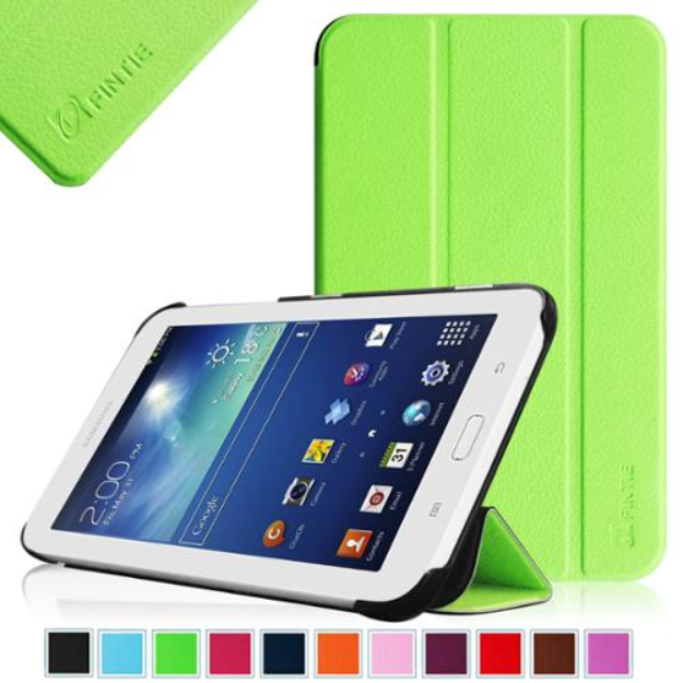 Fintie Slim Shell Case Cover Ultra Slim Lightweight Stand for Samsung Galaxy Tab 3 Lite 7.0 Tablet, Green