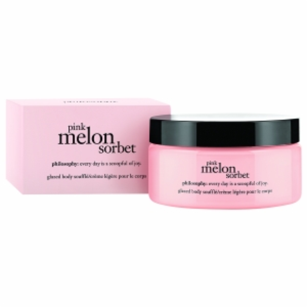 philosophy body souffle, pink melon sorbet, 7 oz