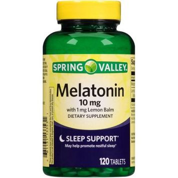 Wal-mart Stores, Inc. Spring Valley Melatonin Dietary Supplement, 10mg, 120 count