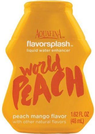 Aquafina FlavorSplash Liquid Water Enhancement World Peach Peach Mango