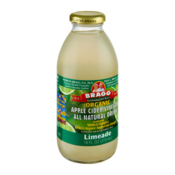 Bragg Organic Apple Cider Vinegar Limeade All Natural Drink