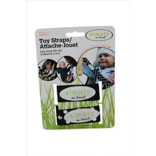 Simply on Board 2 Pack Toy Strap, Black