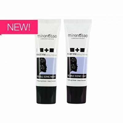 """""""Mirenesse Cosmetics"""" NEW - Pebblesonic Day & Night Purifying Facial Deep Cleansers 40g DUO"""