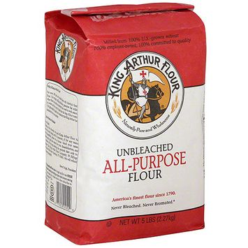 King Arthur Flour King Arthur Unbleached All Purpose Flour, 5 lb (Pack of 8)