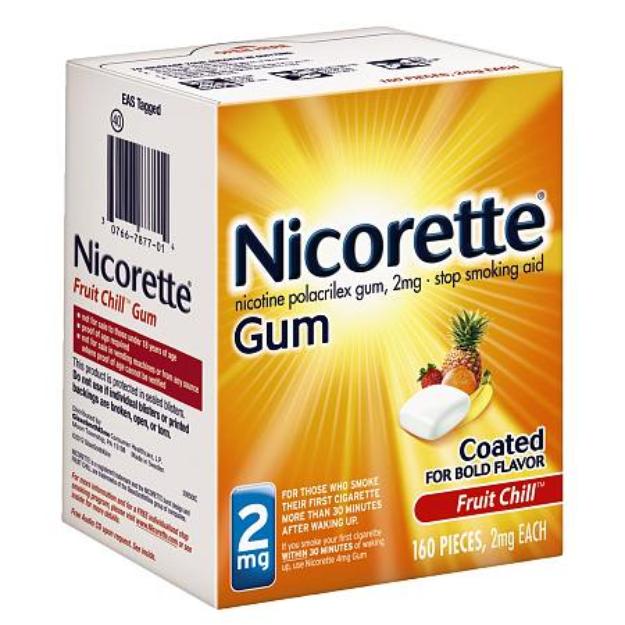 Nicorette Fruit Chill 2 mg Gum