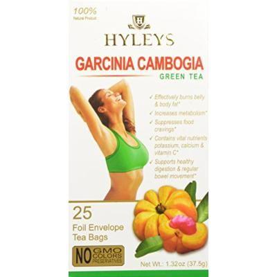 HYLEYS Tea Garcinia Cambogia Green Tea, 25 Count (Pack of 12)
