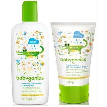 Babyganics Moisturizing Therapy Cream Wash with Eczema Cream