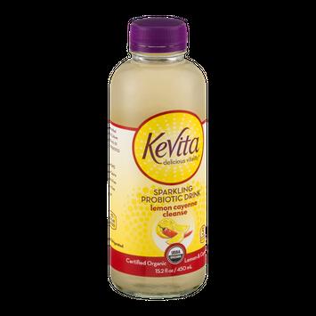 KeVita Delicious Vitality Sparkling Probiotic Drink Lemon Cayenne Cleanse