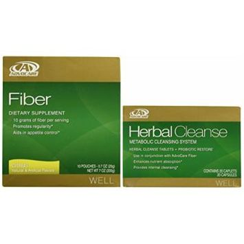 AdvoCare Herbal Cleanse & Fiber CITRUS (kit) , Herbal Cleanse 20 Capsules & Fiber 10 Pouches