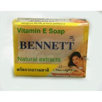Body Soap Bar BENNETT Brand Vitamin E Soap Natural Extracts (net wt 4.6 OZ.or 130g.)