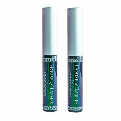 House of Lashes Glue - DARK Lash Adhesive 2pk- Dries Dark, Latex-free, Cruelty-free product