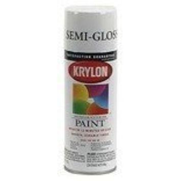 Krylon 51508 Semi-Gloss White Interior and Exterior Decorator Paint - 12 oz. Aerosol [Semi-Gloss White]