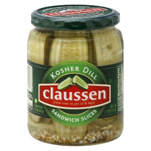 Slide: Claussen Dill Sandwich Pickle Slices 20 oz