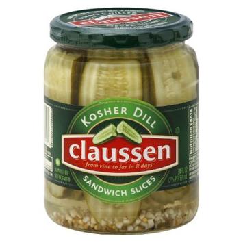 Slide: Claussen Dill Sandwich Pickle Slices 20 oz