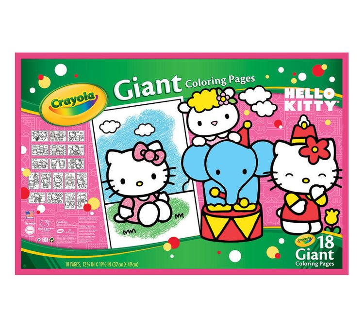 Crayola Giant Coloring Pages - Hello Kitty