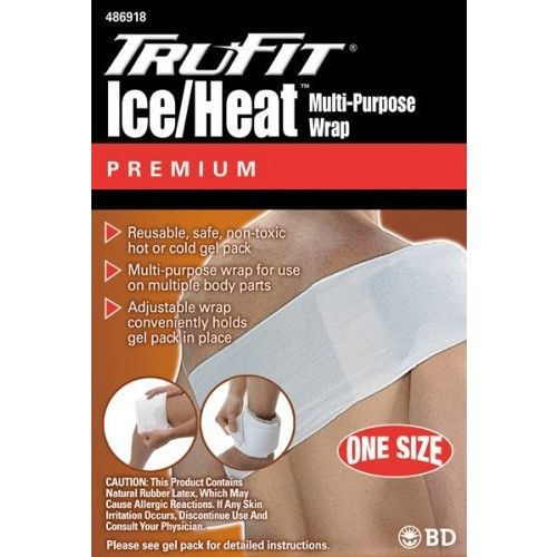 Trufit Tru-Fit Ice/Heat Gel Pack with Cloth Wrap One Size Fits All (Pack of 2)
