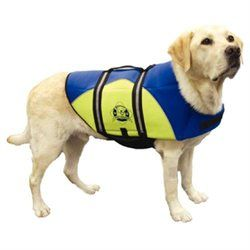 Hunter Manufacturing Hunter K9 Designs BY1400 Medium Neoprene Doggy Life Jacket - Blue and Yellow