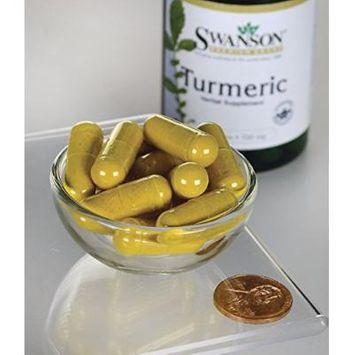 Premium Brand Turmeric Whole Root Powder (Curcuma longa) 720 mg 2 Bottles of 30 Caps Made in USA by Swanson