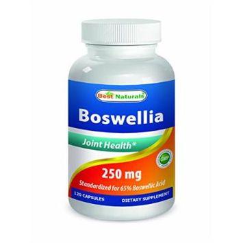 Best Naturals Boswellia 250 mg 120 Capsules - Standardized to 65% Boswellic acid