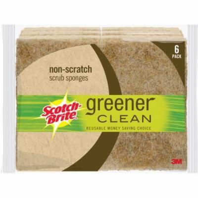Scotch-Brite Greener Clean Natural Fiber Scrub Sponges, 6 pack