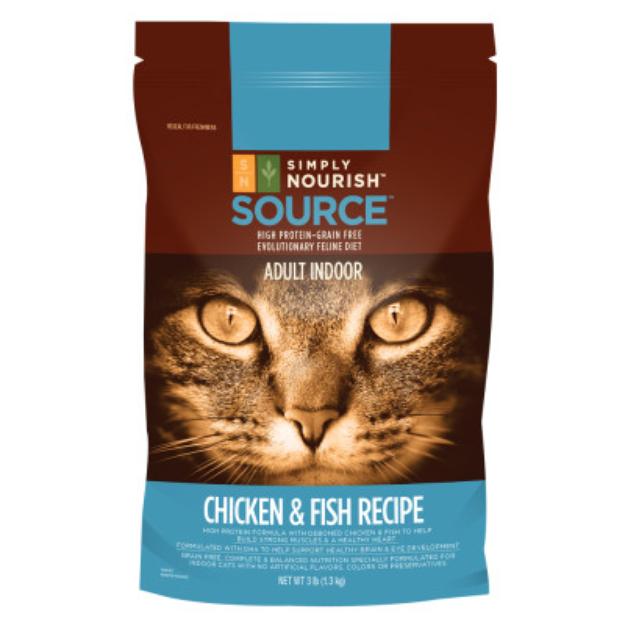 Simply Nourish Source Indoor Adult Cat Food Chicken & Fish Recipe