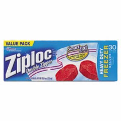 Double Zipper Freezer Bags, 9 3/5 x 12 1/10, 1 gal, 2.7mil, 9/Carton