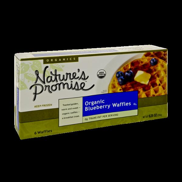 Nature's Promise Organics Organic Blueberry Waffles