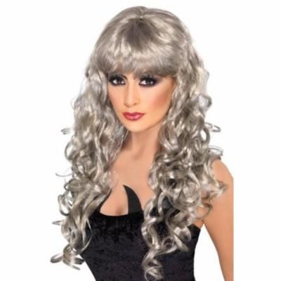 Siren Adult Costume Long Silver Wig