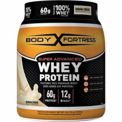 Body Fortress Super Advanced Banana Creme Whey Protein, 32 oz