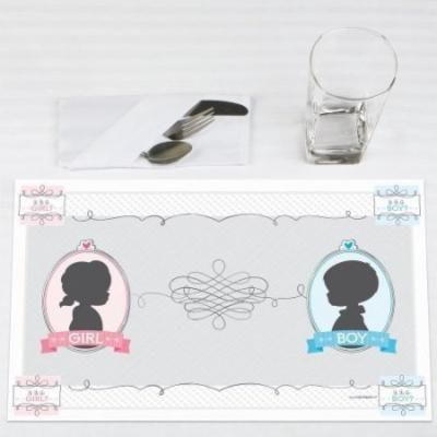 Gender Reveal - Party Placemats - Set of 12