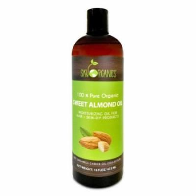 Sweet Almond Oil by Sky Organics 16oz-100% Pure Cold-Pressed & Organic (2 Pack)