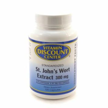 St. John's Wort Extract 300mg by Vitamin Discount Center 120 Capsules